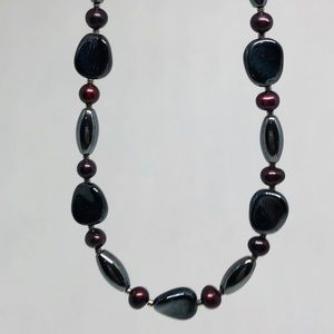 Jewelry - 3 for $15 Hematite and freshwater pearl necklace